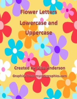Flower Letters Uppercase and Lowercase