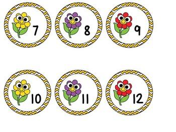 Free Flower Locker/Calendar Numbers