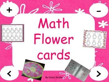 Flower Math Cards