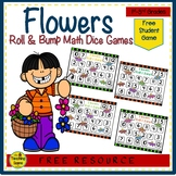 Flower Math Center Freebie:  Roll & Bump!