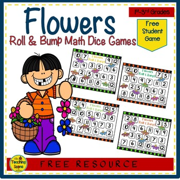 Flower  Roll & Bump! Math Center {FREE}