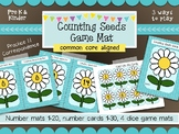 Flower Math Counting Mats- 3 Easy Prep Seed Counting Games or Math centers