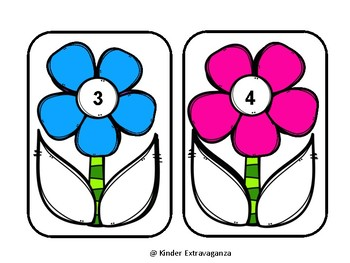 Flower Math Numbers Match