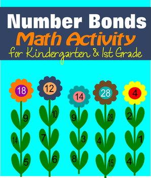 Flower Number Bonds Math Activity for Kindergarten & 1st Grade