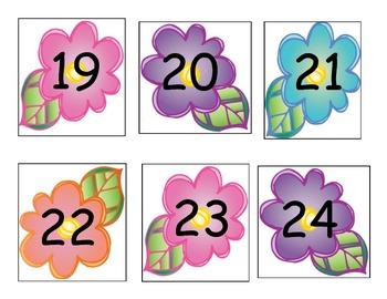 Flower Number Cards