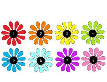 Flower Number Line