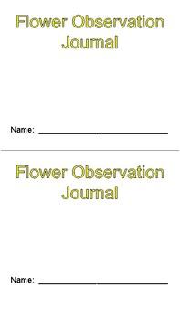 Flower Observation Form