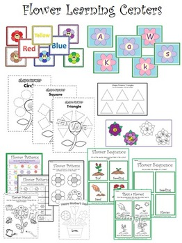 Flowers : Simple Crafts, Early Math and Literacy Centers