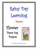Flower Paper Bag Puppet