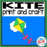 Kite Craft Paper Activity and Creative Writing