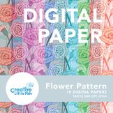 Flower Pattern Digital Paper