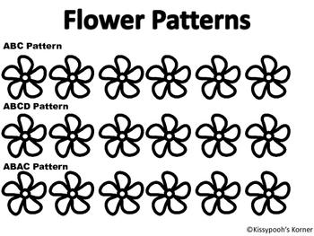 Flower Pattern Worksheet