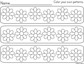 Flower Centers Spring Activities Bingo and Patterns Garden Centers