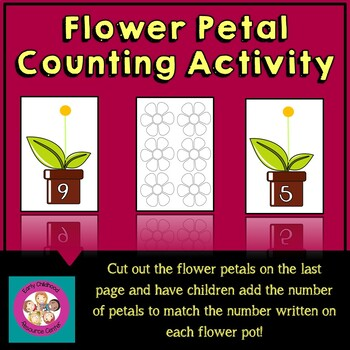 Flower Petal Math:  Counting Activity