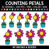 Spring Flower Petal Counting Clipart