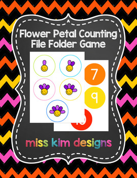 Flower Petal Counting File Folder Game for Special Education