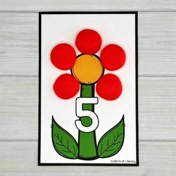 Flower Petal Counting Mats #1-20