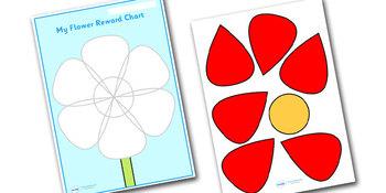 Flower Petal Reward Chart