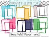 Flower Petals Doodle Frames