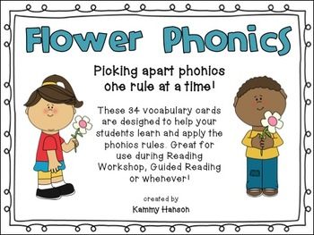 Flower Phonics: 24 Phonics Rules Cards for Reading and Spelling Instruction