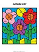 Flower Picture Color By Music Note Rhythm - Quarter Note/Rest, Eighth Notes