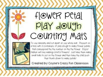 Flower Play Dough Math Activity for Pre-k and Kindergarten