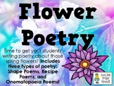 Flower Poetry - Writing Alphabet, Couplet, and Diamante Poetry