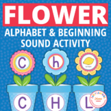 Flower Pot Alphabet and Beginning Sound Matching Activity