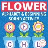 Flower Pot Alphabet and Beginning Sound Matching Activity