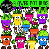 Flower Pot Buds: Spring Clipart {Creative Clips Clipart}
