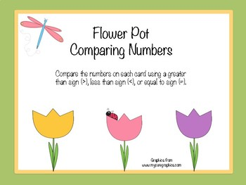 Flower Pot Comparing Numbers