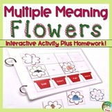 Multiple Meaning Words Spring Flowers