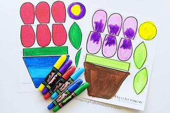 Flower Pot Printable Craft Template