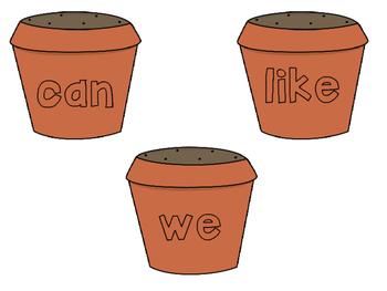 Flower Pot Sight Words