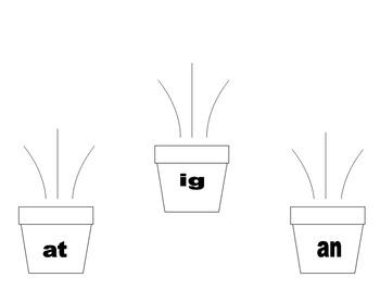 Flower Pot Word Families