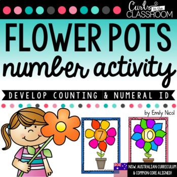 Flower Pots Counting Activity