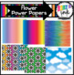 Flower Power 1960s Digital Clipart and Paper (Erin's Ink Clipart)