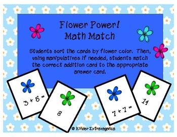 Flower Power Addition Match!