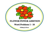 Flower Power Addition Word Problems 1-10