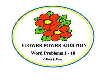 Flower Power Addition Word Problems 1-10