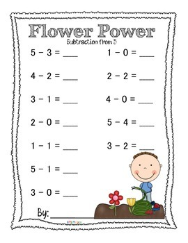 Flower Power Addition and Subtraction Packet