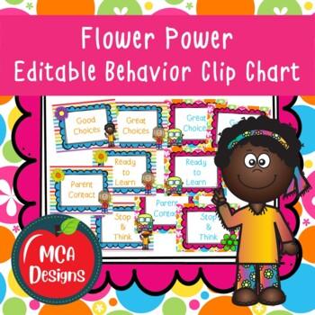 Flower Power - Behavior Clip Chart
