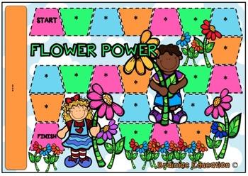 Flower Power Blank Board Game (EDITABLE)