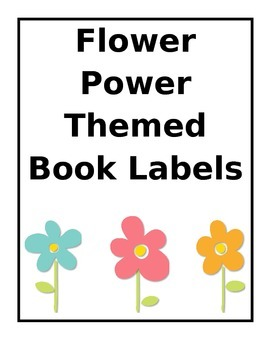 Flower Power Book Labels
