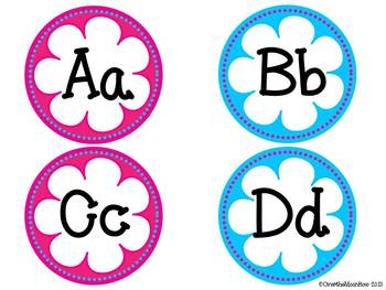 Flower Power Bright Pink/Turquoise Classroom Décor Set