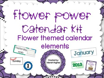 Flower Power Calendar Kit