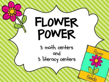 Flower Power Centers {3 Math & 3 Literacy Plant Centers}