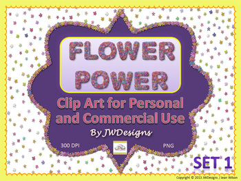 Flowers Clip Art - Borders, Frames, Papers and More - Set 2