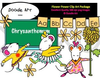 Flower Power Clipart Pack