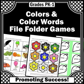 Color Words File Folder Games Flower Spring/Summer Special